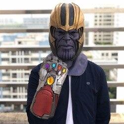 Vingadores 4 endgame homem de ferro infinito gauntlet hulk cosplay braço thanos luvas de látex braços máscara marvel super-herói arma adereços festa
