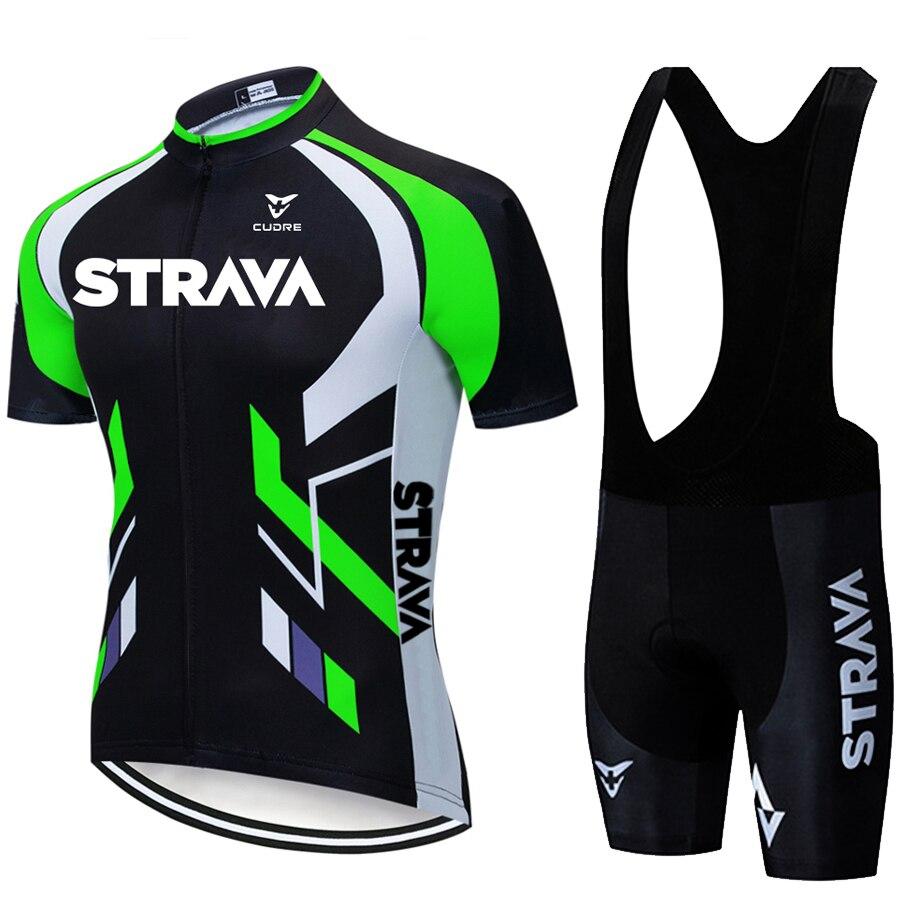 2020 nuevo STRAVA Ropa de Ciclismo MTB bici Conjunto Jersey Ropa Ciclista...