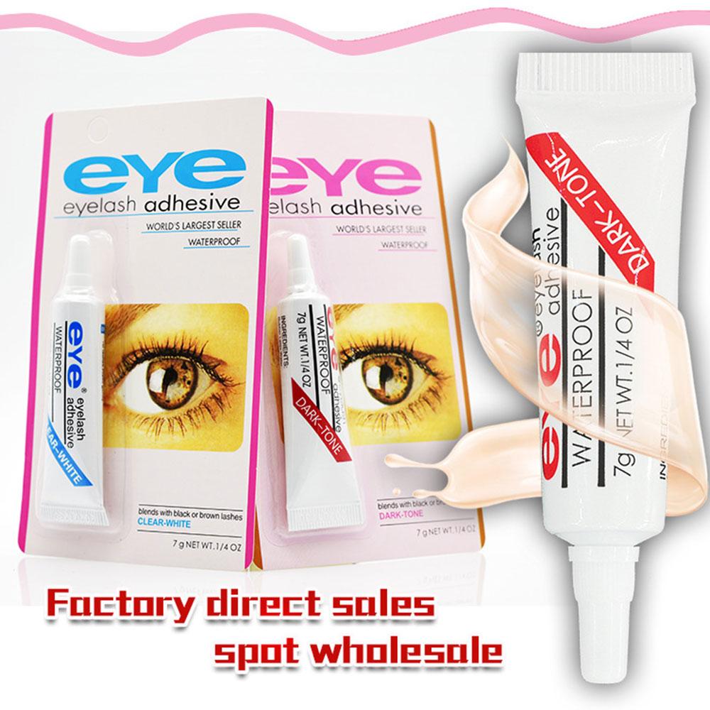 2pcs Professional False Eyelash Glue Strong False Eyelashes Makeup Adhesive Clear-white Dark-black Waterproof Eyelash Tools недорого
