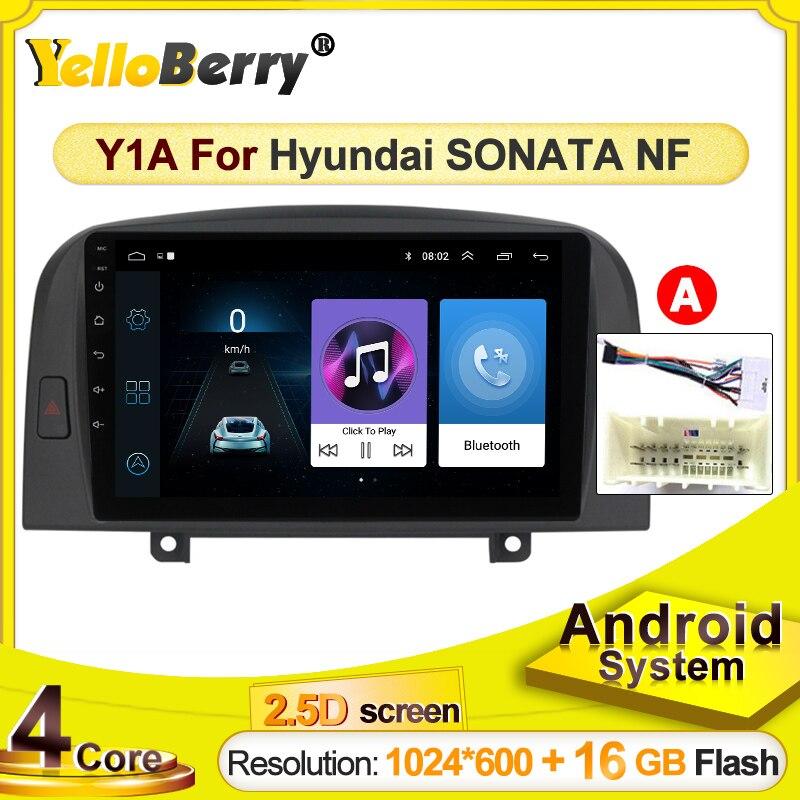 Rádio do carro android gps reprodutor de multimídia do carro para hyundai sonata nf 2004 2005 2006- 2008 bt wifi unidade principal apoio carplay