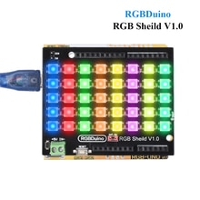 RGBDuino rvb Sheild V1.0 rvb lampe à LED panneau lumineux 8*5 Pixel LED rvb matrice pour Arduino UNO Arduino mega 2560 RGBDuino UNO V1.1