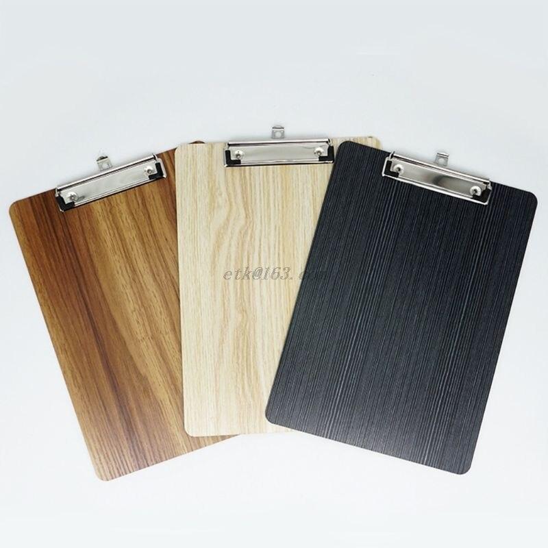 Portapapeles portátil A4 A5 de madera para escribir, portapapeles para documentos, papelería de oficina y escuela