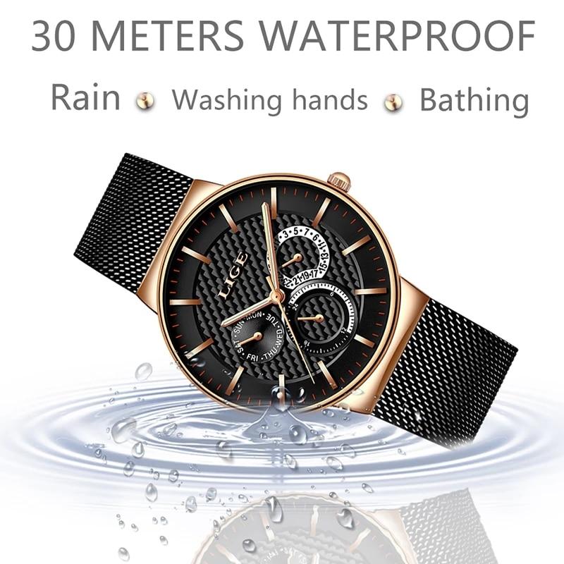 LIGE 2021New Gold Watch Women Watches Ladies Creative Steel Women's Bracelet Watches Female Waterproof Clock Relogio Feminino enlarge