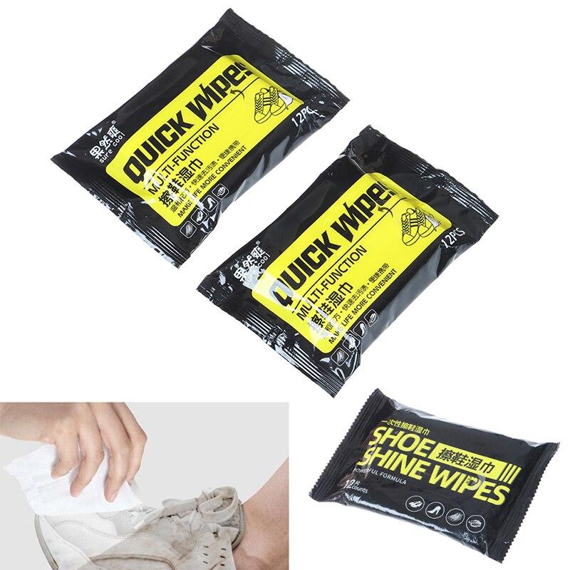 12 шт., чистящие салфетки для обуви