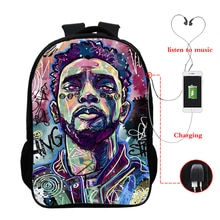 Chadwick Boseman Back To School Backpacks Mochila Designer Backpack 16 Inch College Student Teenager