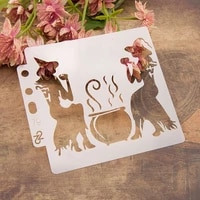 13cm 5 1 drinking witch diy layering stencils painting scrapbook coloring embossing album decorative card template