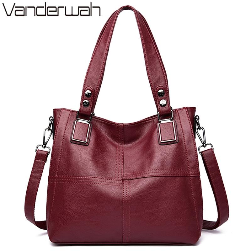 Genuine Large Capacity 2 Layers Luxury Handbags Women Bags Designer Leather Handbags Ladies Shoulder Tote Bag For Women 2021 Sac