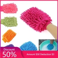 hot sale 2 in 1 ultrafine fiber chenille microfiber car wash glove mitt soft mesh backing no scratch for car wash and cleaning