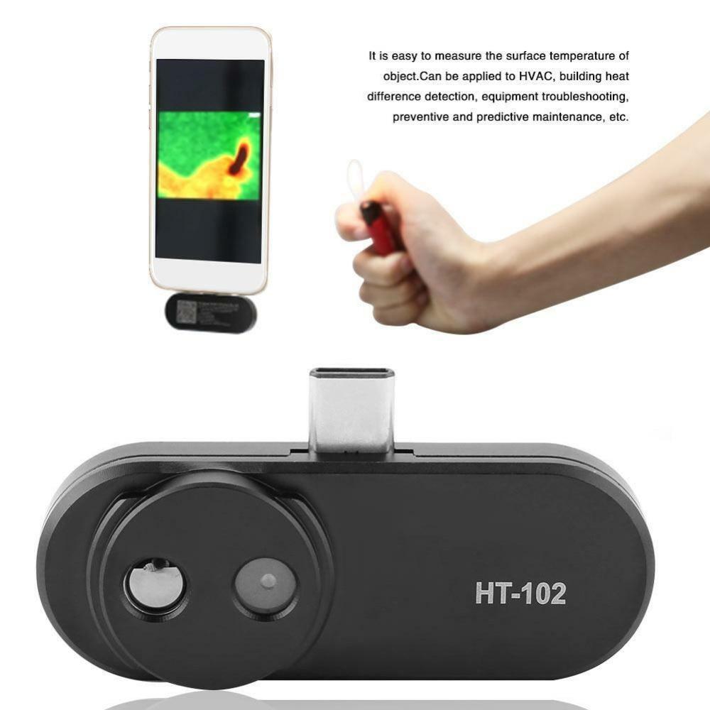 HT-102 мобильный телефон Термальность Инфракрасный Тепловизор инструмент для Android Тип C Термальность изображений Температура детектор Поддержка видео и фото