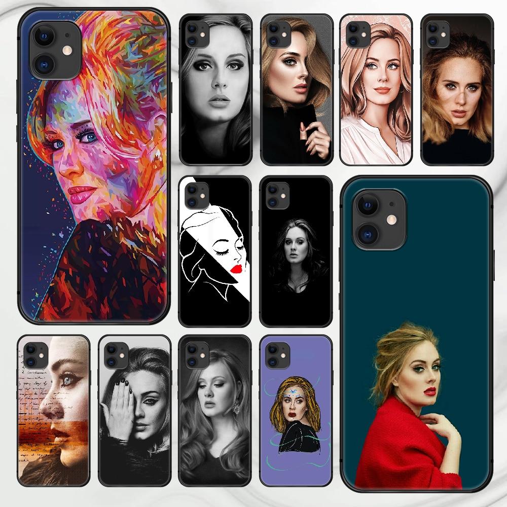 Adkins adkins adkins caso do telefone capa casco para iphone 5 5S se 2020 6s 7 8 12 mini plus x xs xr 11 pro max preto pára luxo escudo 3d