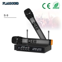 S-9 UHF Bluetooth Wireless Microphone Echo Microphone Karaoke Handheld Microphone for Computer Speaker Studio Microfone Sem fio