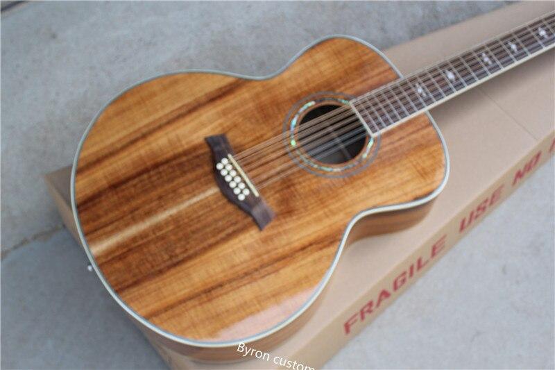 Envío Gratis guitarra acústica de cuerpo jumbo 12 cuerdas K55 koa 12 cuerdas K55e guitarra eléctrica acústica folk
