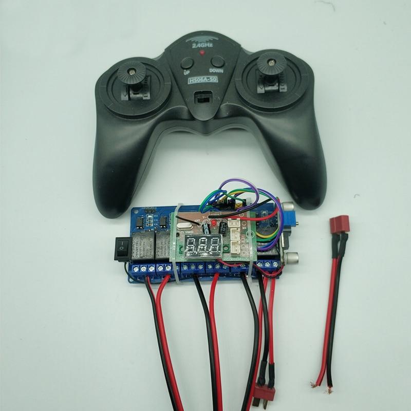 1 2,4G 4CH 6CH receptor de control remoto de 12V 24V de alta potencia 15A recibir para RC coche barco modelo de Radio control