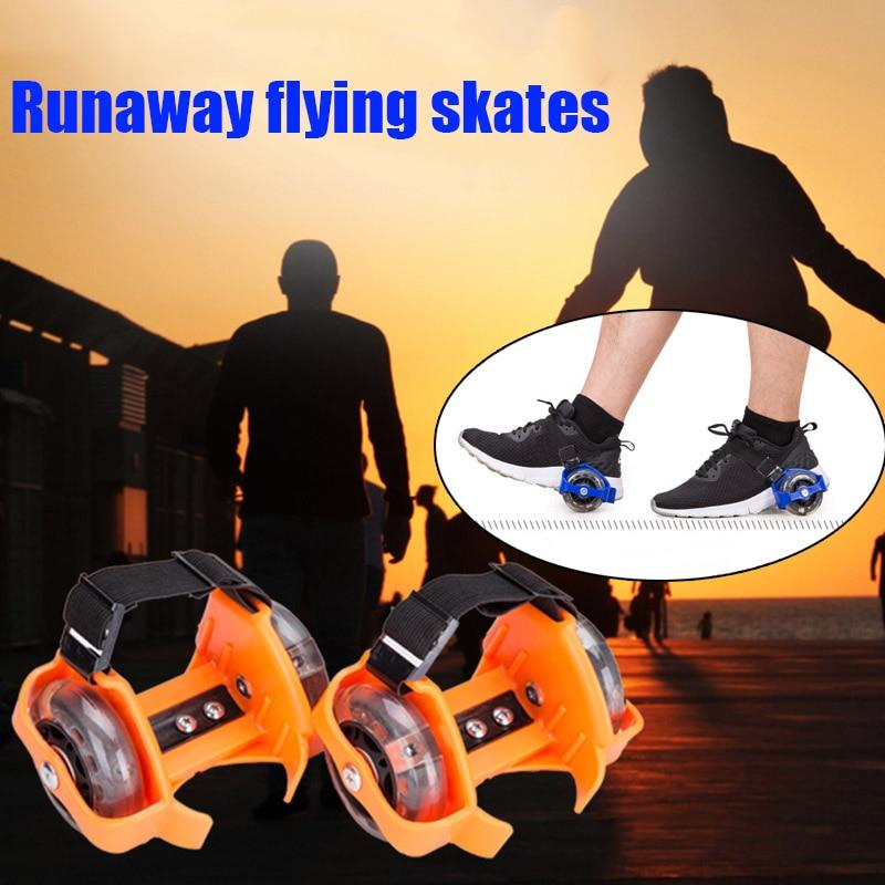 1 par de zapatos de Patinaje con ruedas parpadeantes, patines simples ajustables para niños