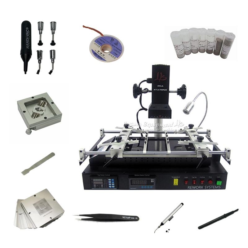 Nova versão ly ir8500 infravermelho ir bga estação de retrabalho solda reballing pcb chips placa-mãe máquina de reparo universal stencils