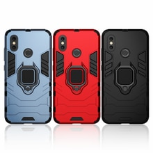 Shockproof Armor Case for Xiaomi Mi 8 Case Ring Holder Stand Phone Back Cover for Xiomi Mi 8 MI8 Xia