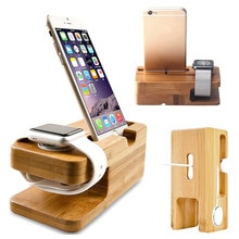 Charging Dock Stand Station Charger Holder For Apple Watch iWatch Wooden Smart Watch Desktop Chargin