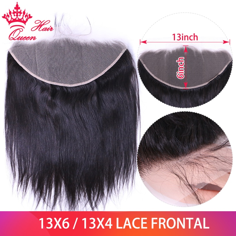 ملكة الشعر 13x6 13x4 الأذن إلى الأذن الدانتيل إغلاق أمامي اللون الطبيعي البرازيلي مستقيم الشعر أمامي 100% ريمي الشعر البشري أمامي