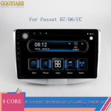 1din IPS coche Radio Estéreo 8core RAM4G + ROM64G reproductor Multimedia para VW Volkswagen Passat B7 B6/Magotan con CarPlay 4G DSP BT