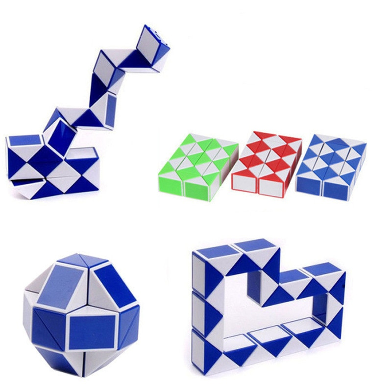 1 шт. змея Волшебная линейка Твист Головоломка извивающаяся Коллекция игрушек головоломки куб игрушки разнообразные Складные Игрушки для детей случайный цвет