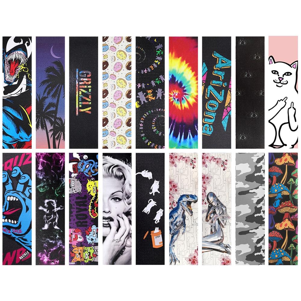 E Win Skateboard Grip Tape  Self Adhesive Longboard Tape 84*23cm Sandpaper Printing Anti Skid Tape  Deck Sticker Accessorie