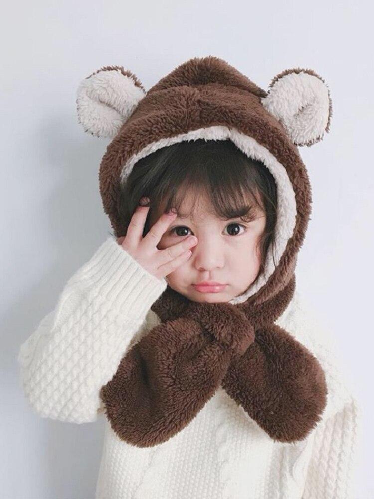 Зимние теплые детские шапки, 7 цветов, Детская Зимняя Шапка-бини, пилота, шапка-ушанка, детская зимняя теплая шапка-пилот
