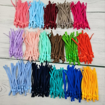 Flat Mask Elastic Band Rubber Rope Ear Hanging Rope Adjustable DIY Soft Black4000 White3000 Mix Color4000