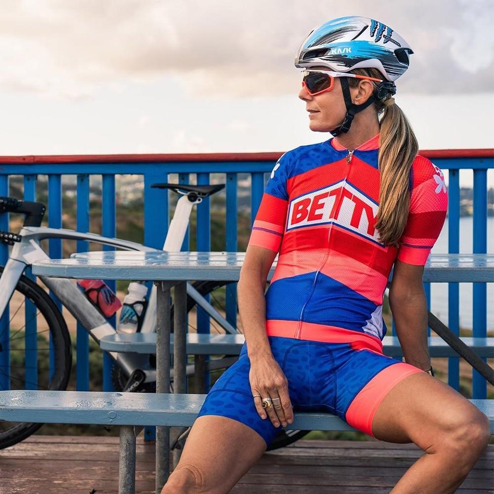 Conjunto de Ropa deportiva para Ciclismo, Maillot de manga corta para mujer,...
