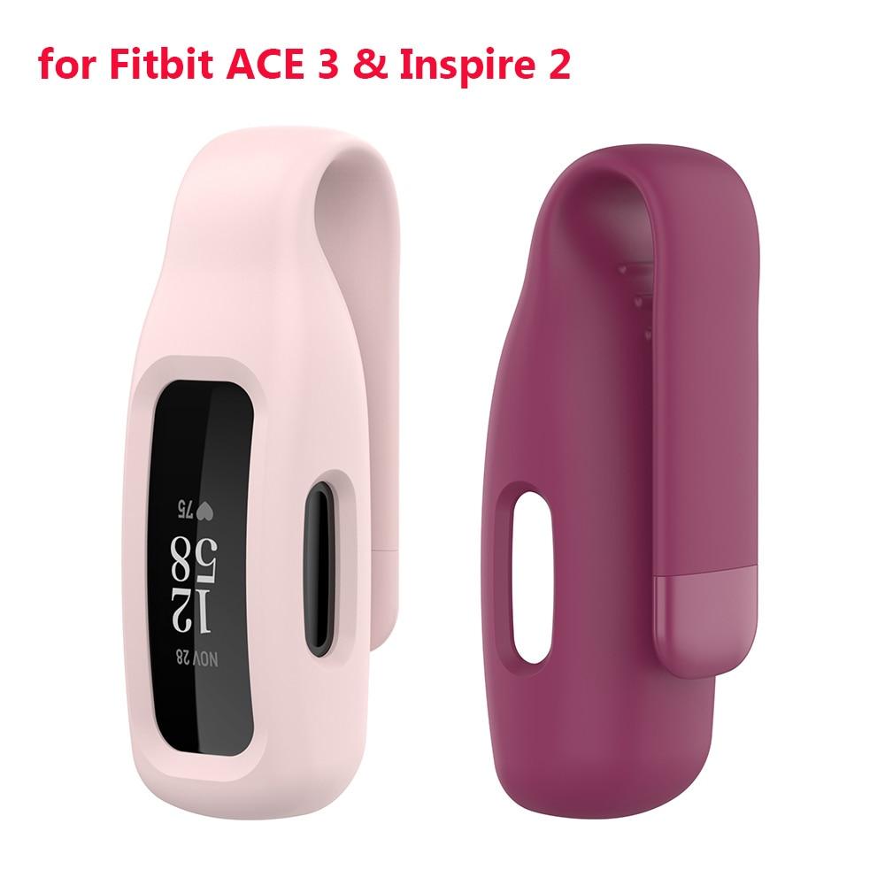 Funda de Clip para Fitbit Inspire 2 ACE3, funda de silicona suave,...