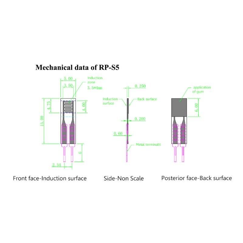 Высокая точность 10 г-1 кг давление датчик умный гибкий тонкий пленка сила датчик