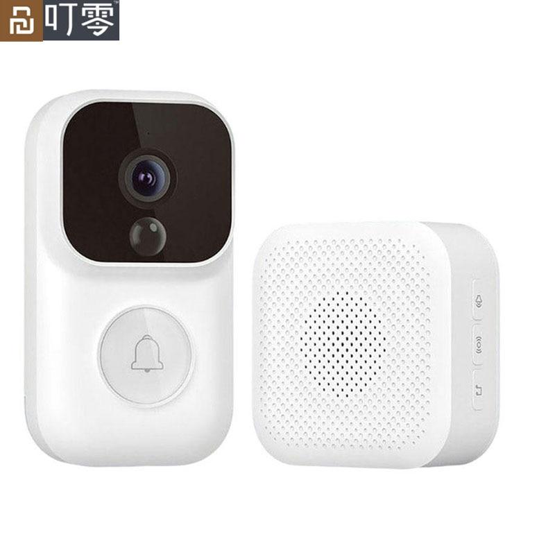 [S mejorado] Youpin Zero Smart 1080P timbre de vídeo visión nocturna infrarroja PIR detección de movimiento 150 ° Gran Angular Mi aplicación para hogares