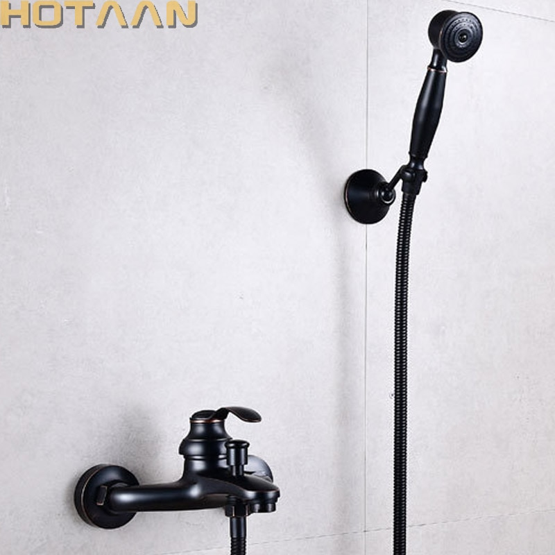 حمام حمام الحائط باليد الأسود دش رئيس عدة دش صنبور مجموعات YT-5340H-A