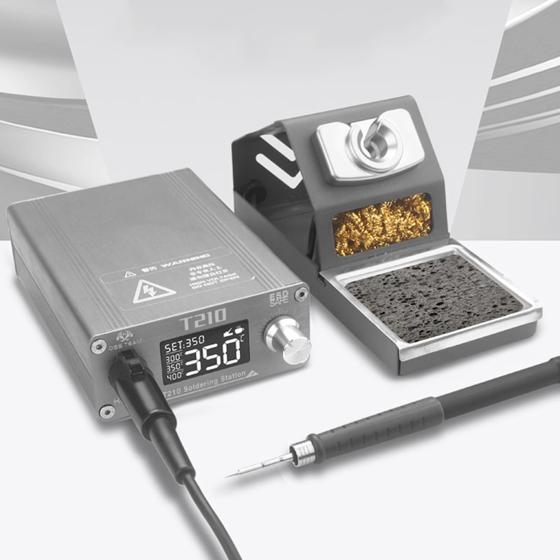 T210 محطة لحام 75 واط سريع الحرارة درجة الحرارة قابل للتعديل سبيكة لحام كهربائي للهاتف اللوحة الأم إعادة العمل أداة إصلاح