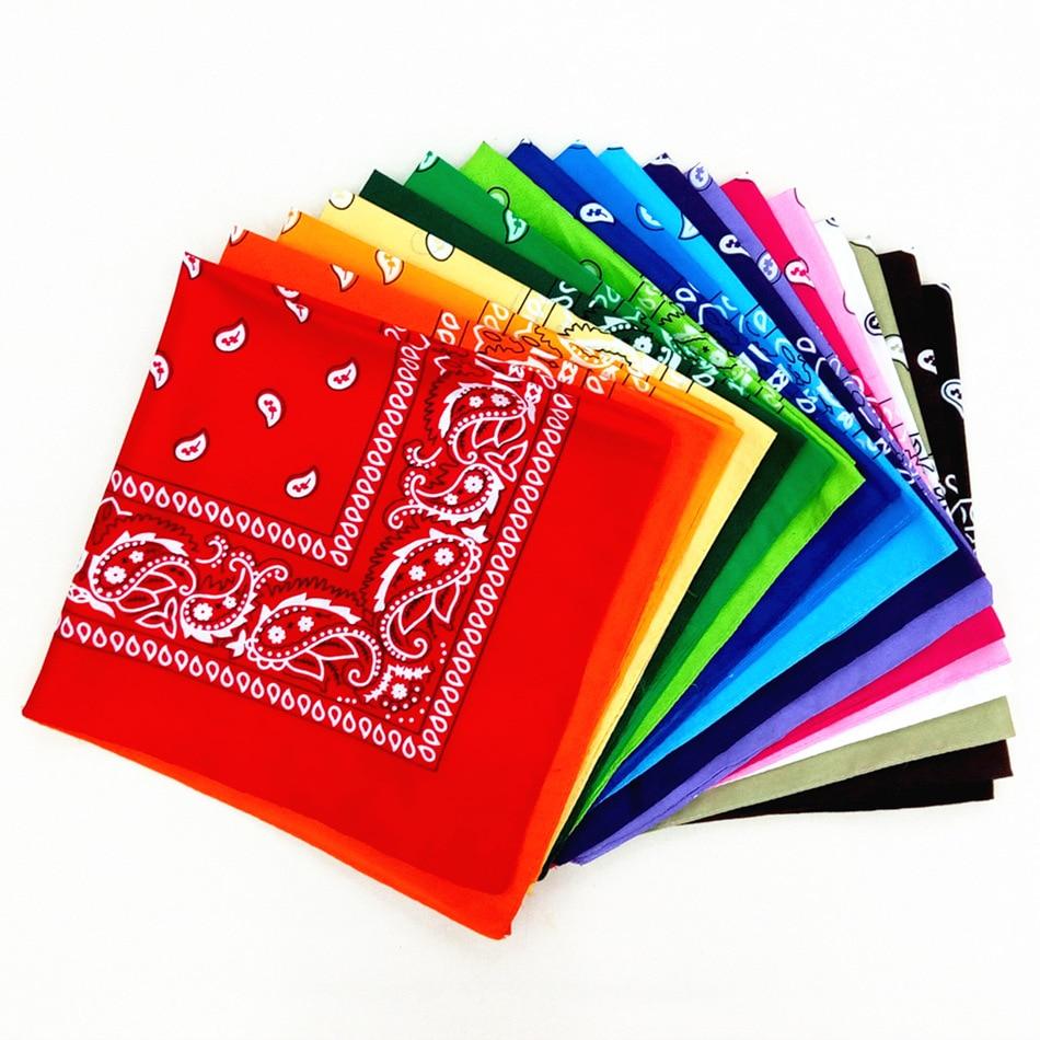 Bandana Kerchief Man Women Hair Band Neck Scarf Sports Headwear Wrist Wraps Head Square Scarves Print Handkerchief