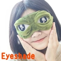 cartoons plush frog sleeping mask eyepatch cartoon eye cover for eye travel relax sleeping eye patch shading eye mask soft silk