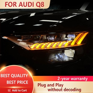 It is suitable for Audi Q8 LED headlamp refitting and upgrading matrix headlamp, Q8 low configuration upgrading dynamic headlamp