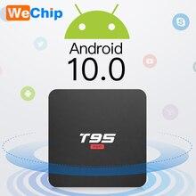 Android 10 Dispositivo de TV inteligente T95 superinteligente Android TV Box Allwinner H3 GPU G31 2GB 16GB WiFi inalámbrico de 4K Youtueb HD reproductor de medios