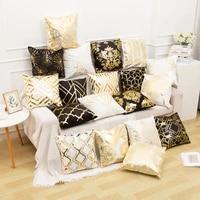 2021 new luxury bronzing throw pillows cases decorative home decor european classic sofa cushion living room decoration cover