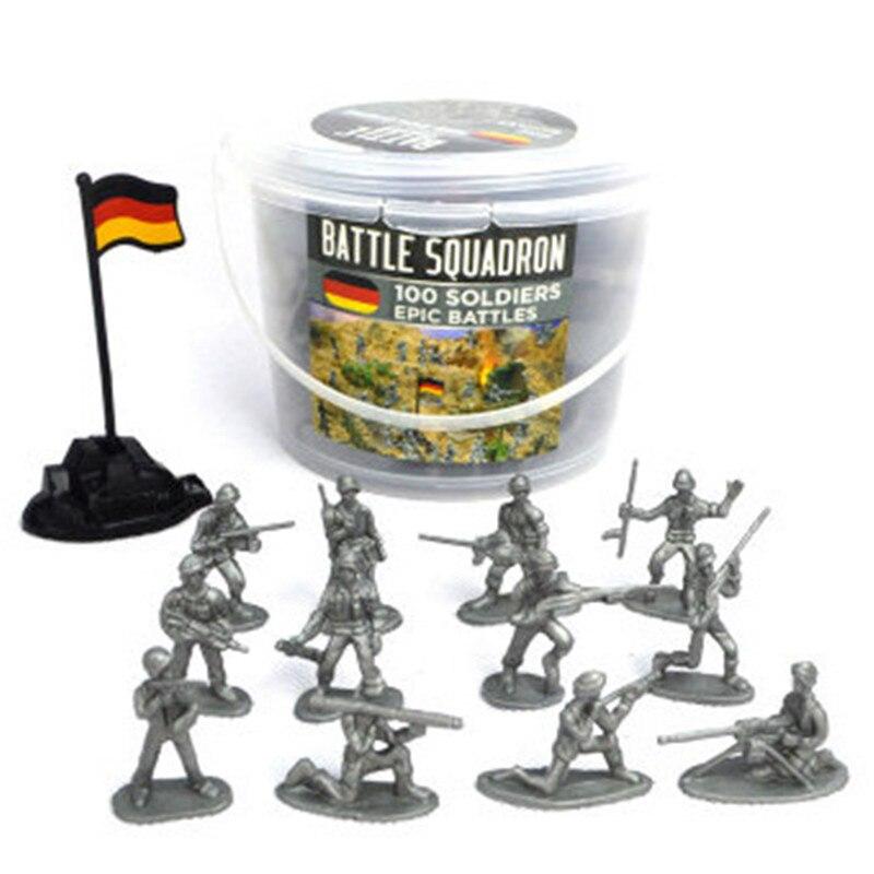 100 Uds Hot Knights Warrior Horses juguete soldados acción figura Set Mini militar modelo niños juguetes regalo decoración para niños adultos