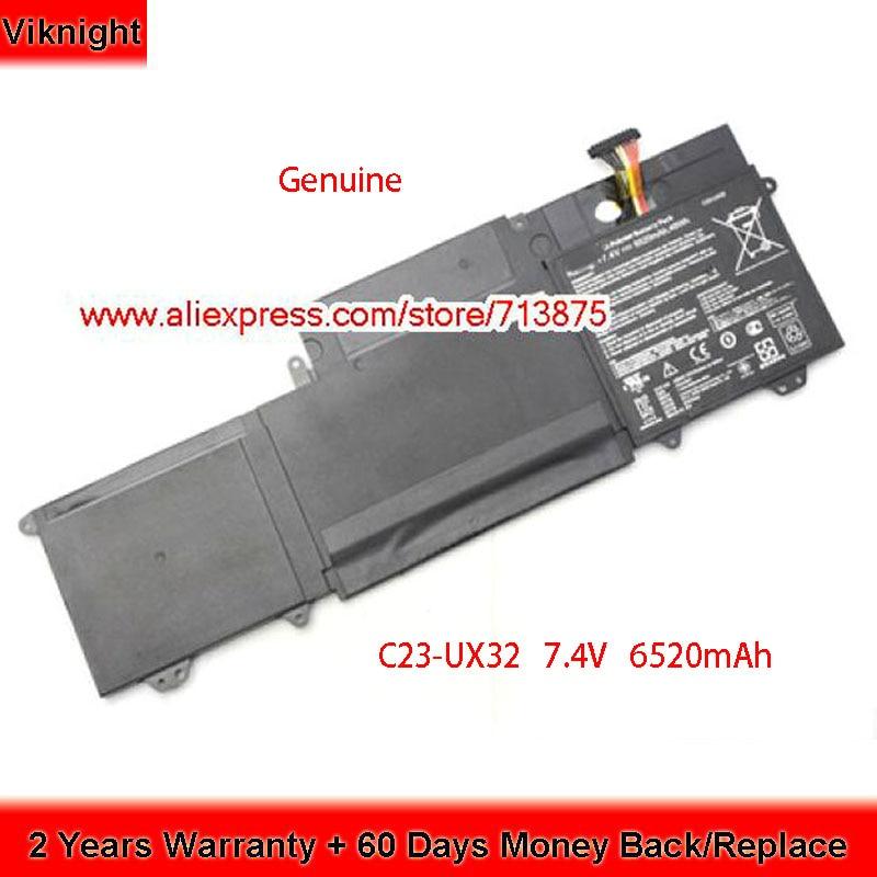 Подлинная C23-UX32 батарея 7,4 V 6520mAh для ASUS UX32VD UX32A UX32 VivoBook U38N UX32V Series