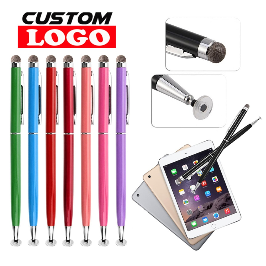 Review 500pcs/Pack Universal 2 in 1 Touch Screen Stylus Pens for iPad iPhone 11 12 13 Samsung Tablet / All Mobile Phones PC Custom Logo