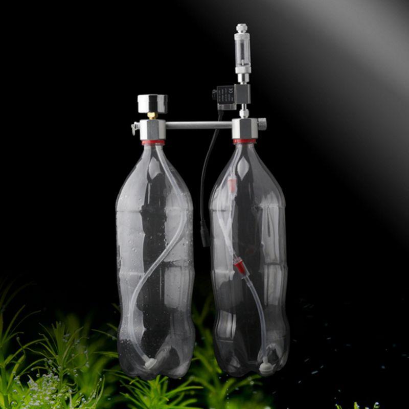 Аквариум DIY СО2 система генератор комплект счетчика пузыря растения Диффузор регулятор герметичность, не деформируется, никогда не свободн...