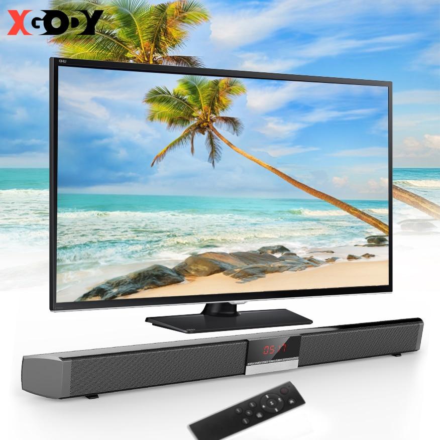 Barra de sonido XGODY, TV Home Theater SR100PLUS, barra de sonido de graves profundos de 40W, altavoz inalámbrico Bluetooth para ordenador, TV, Set Coaxial