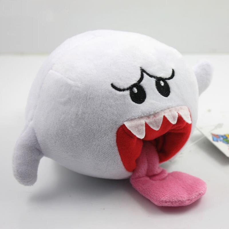 1pc nuevo encantador Super Mario Bros fantasma Boo lengua larga blanco Mario de peluche juguetes de peluche muñeca de La felpa para el regalo de los niños