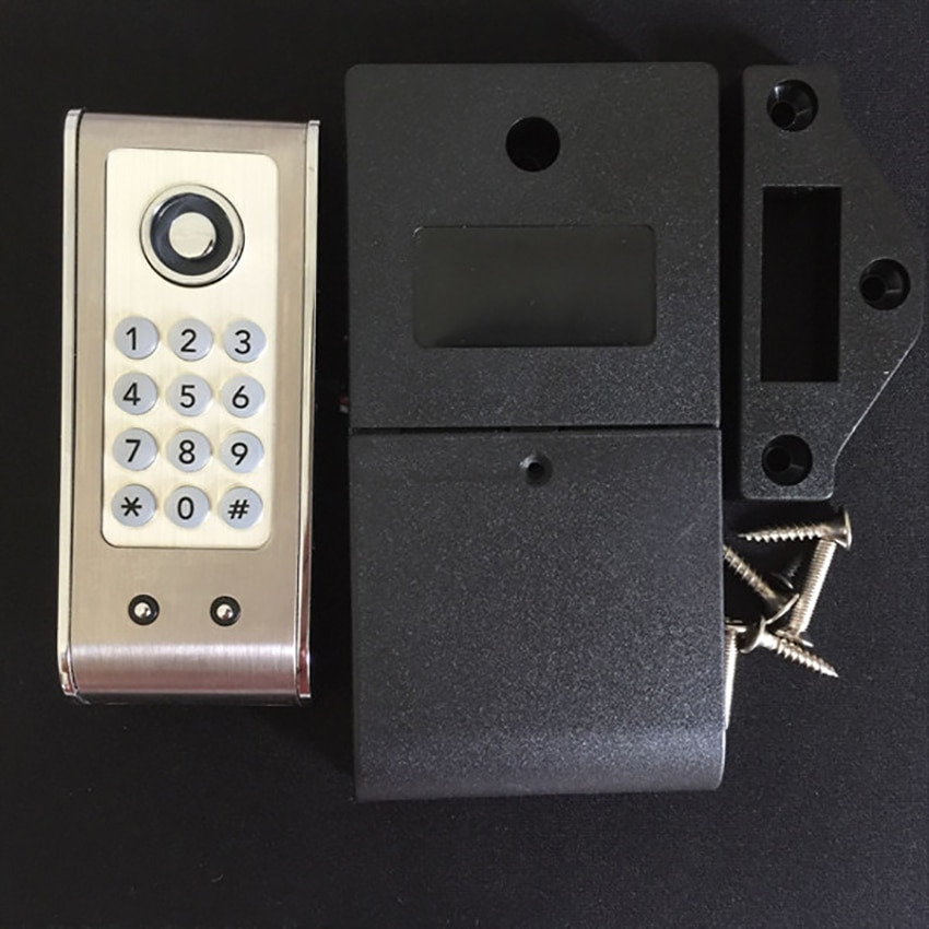 electronic lock digital combination lock password keypad number cabinet door code locks for cabinet door drawer door hardware Digital Keypad Door Lock, Backup Card Key, Electronic Keyless Password Code Combination Lock for Jewelry Box Cabinet Cupboard