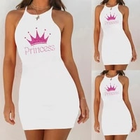 new summer mini dresses alphabet pincess printing vest short dresses beach party sexy dress club vestidos robe casual 2021