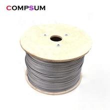 Corde à linge en acier inoxydable 304 avec revêtement en PVC, câbles métalliques souples transparents
