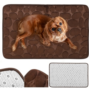 Cloth Pet Imitations Stone Texture Mat Wear Resistant Blanket Soft Sleeping Massage Pad for Small Dogs Cats(Sky Blue Large Size)
