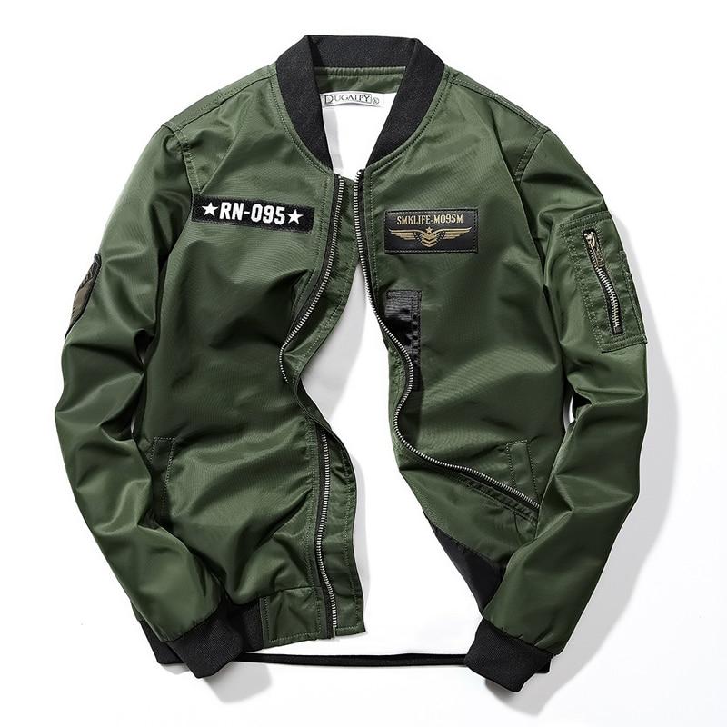 Mens Jackets and Coats Hip Hop Windbreaker Jacket Zipper Male Coat Men Baseball Bomber Flight Streetwear Big Size Clothing,GA398