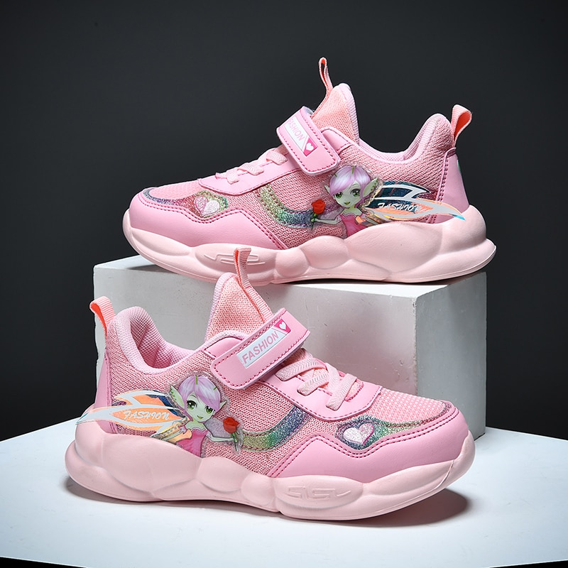 Autumn New Kids Mesh Shoes Baby Girls Sport Sneakers Children Shoes Princess Fashion Casual Shoes So